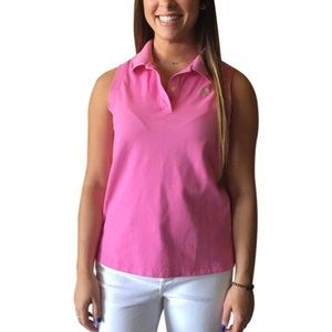 d44bc46258ccd7 Lilly Pulitzer classic polo 2 button sleeveless